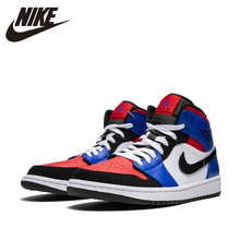 купить Nike  Air Jordan 1 Men Original Basketball Shoes  Breathable Outdoor Sports Sneakers Breathable Abrasion Resistant #554724 по цене 6426.5 рублей
