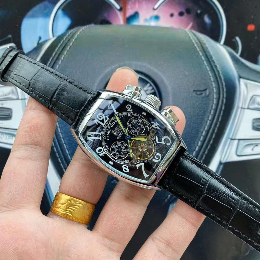 AaaQuality Watches, Men's Fashion Tourbillon Movement, Calfskin Leather Strap. High Quality High Quality Fully Automatic Mechani