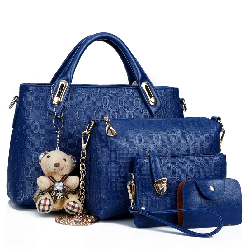 DAHOOD Crossbody Bags For Women 4 PCS Set New Style Women Shoulder Bags Ladies Shopping Travel Handbag With Cute Bear Large Bag
