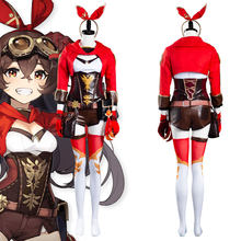 Genshin impacto âmbar cosplay traje macacão outfits halloween carnaval terno