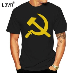 Russian Hammer And Sickle - Soviet Russia Mens Tee Cotton Blend T-Shirt ?Latest New Style Tee Shirt