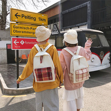 New Canvas School Bags for Teenage Girls Backpack Women Multi Pocket Shoulder Travel Backpacks Female Preppy Style недорого