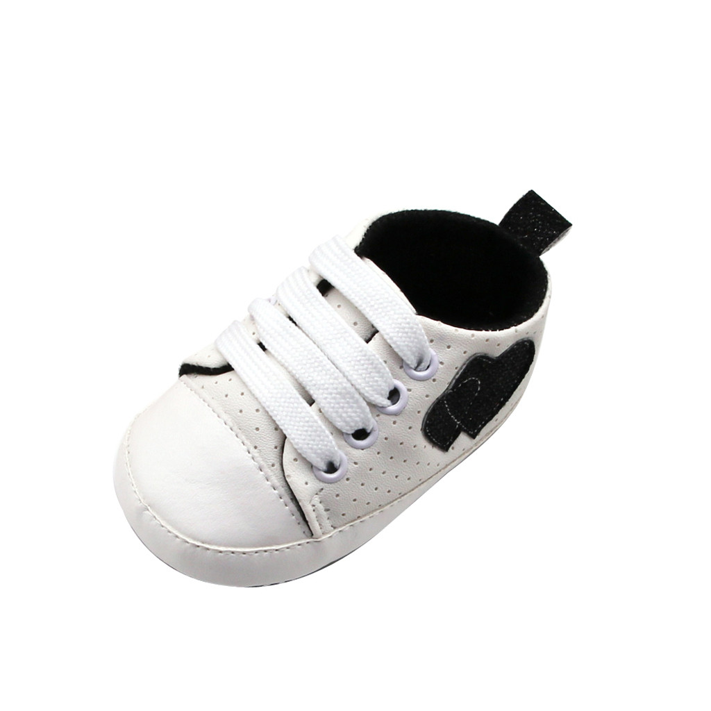 Newborn Baby Girls Boy Football Sneaker Anti-slip Soft Sole Toddler Canvas Shoes