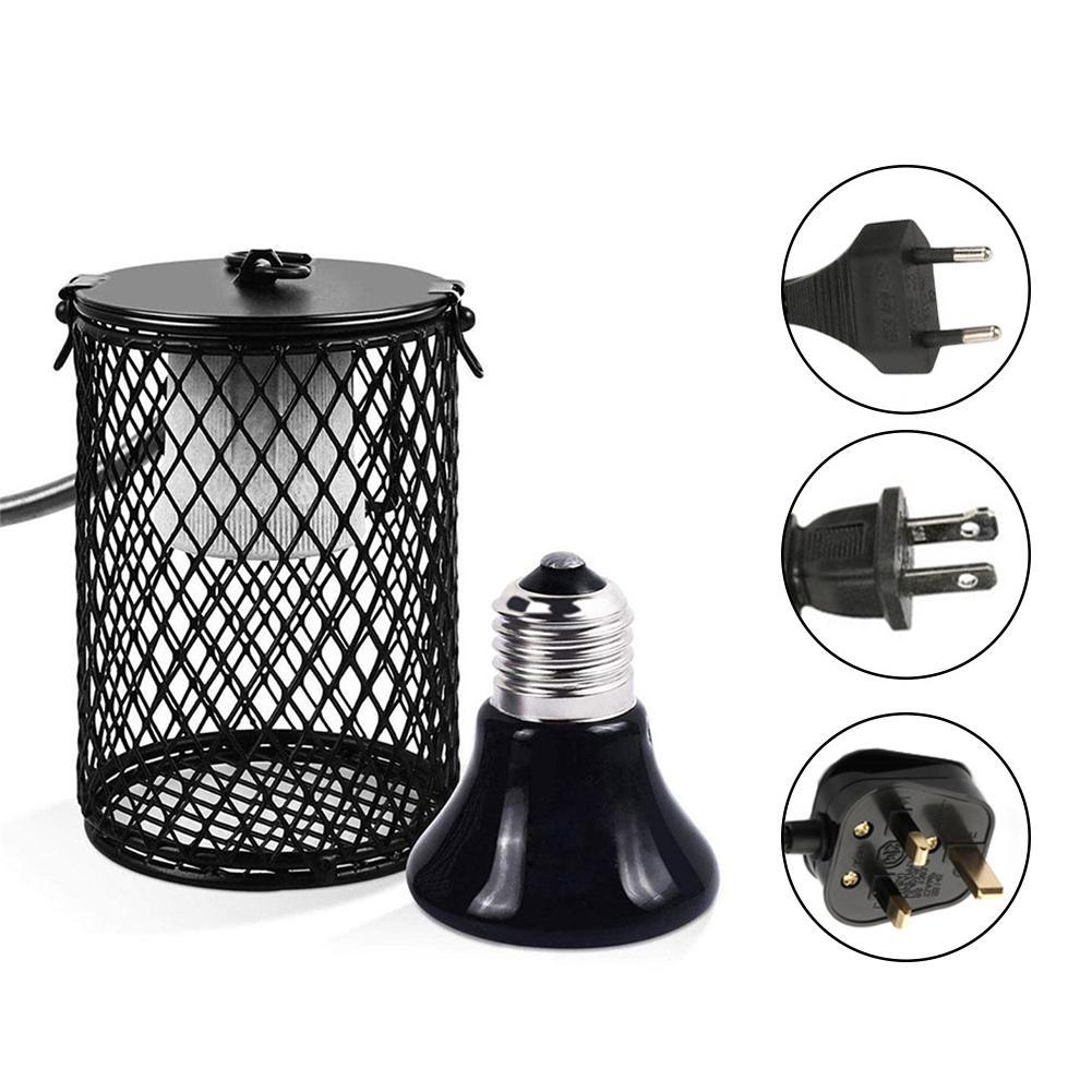 110V/220V Pet Heated Lamp Anti-scald Ceramic Heating Lamp Bulb Pet Heat Preservation Lamp For Rabbits Turtles Hamsters Parrots