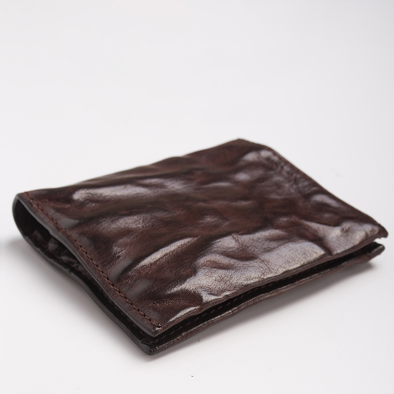 Aetoo carteira retro artesanal, carteira de personalidade