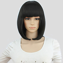 HAIRJOY Synthetic Hair Women Short Straight Bob  Wig short full bang straight bob synthetic wig