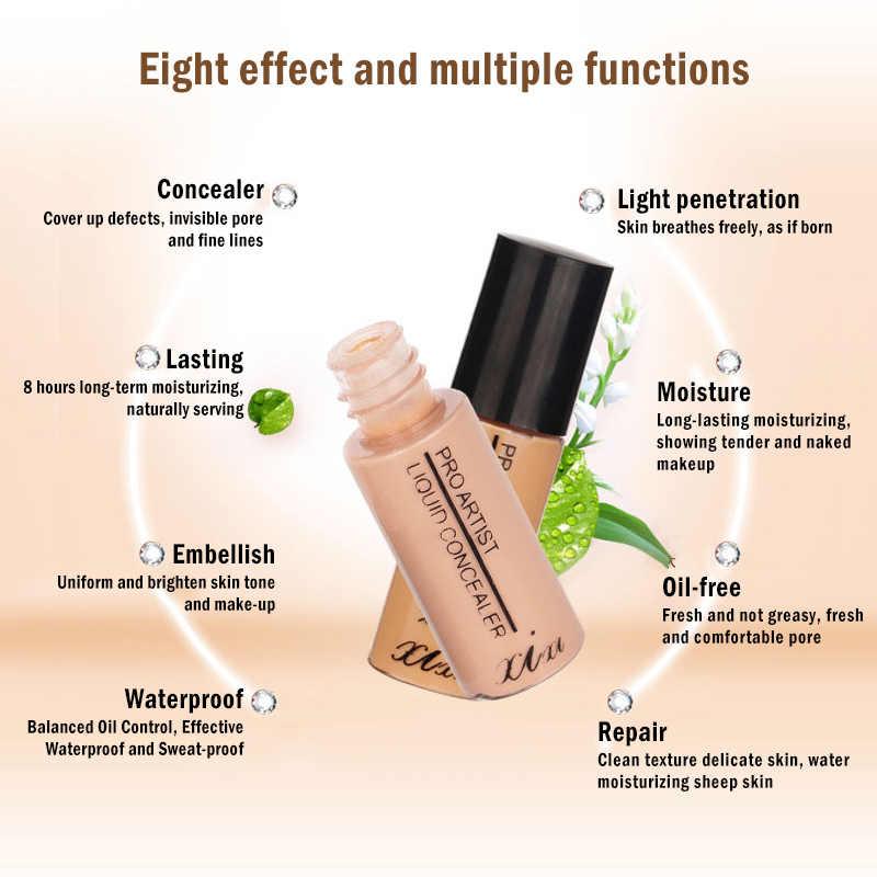Corretivo de maquiagem profissional 2 cores, 6.5g, ferramenta de maquiagem para cobrir o rosto, círculo escuro, blemishe, corretivo cicatriz tslm1