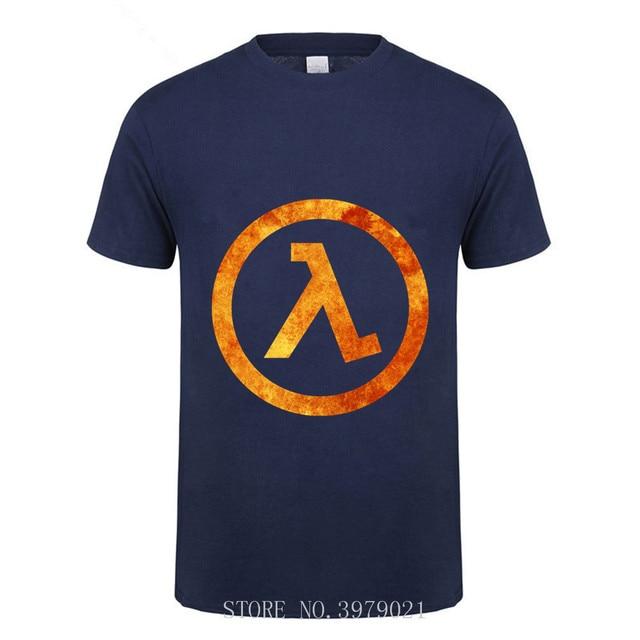 2018 Hipster Funny Half Life 2 100% algodón hombres camiseta Camiseta de manga corta para hombre efecto 3D verano Tops camisetas