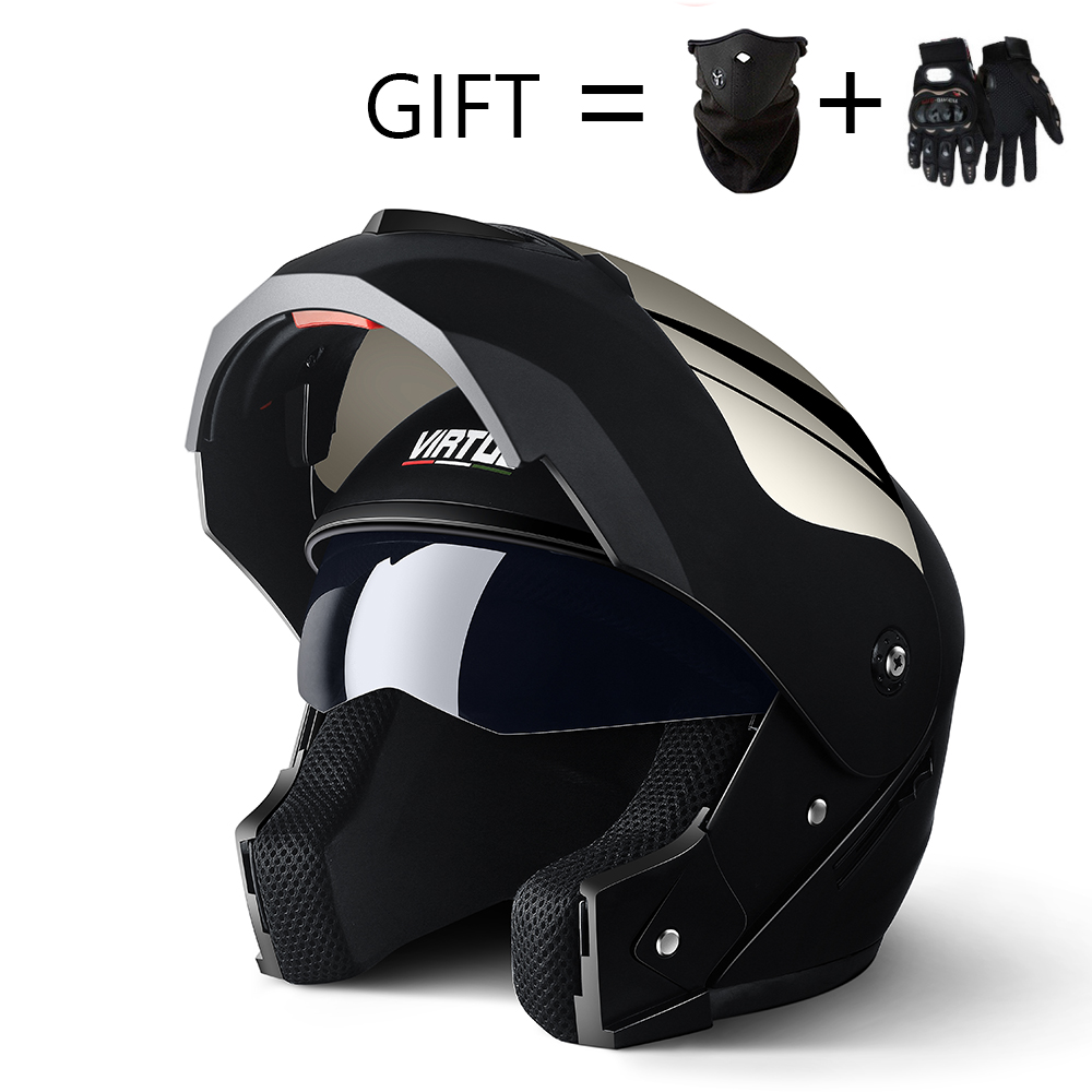 2019 Professional Racing Helmet Modular Dual Lens Motorcycle Helmet Full Face Safe Helmets Casco Capacete Casque Moto S M L