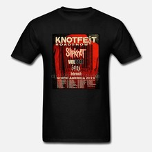 Slipknot Knotfest Roadshow Tour 2019 Mens เสื้อยืดขนาด S M L XL XXL ถึง XXXXXL(China)