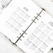 2020  A5 A6 Loose Leaf Calendar PP Binder Notebook Index Divider Planner Filofax Inner Clip Sheet Binder Category binder inner page notebook loose leaf papery separator index paper separation divider page 5 sheets matching filofax kikkik