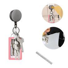 secret stash тайник escondite secreto Telescopic Wire Rope Anti Lost Keychain EDC Retractable Key Ring Finder Gadge
