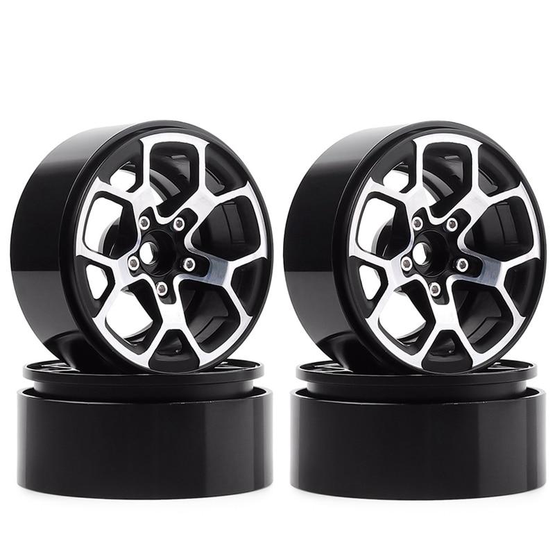 4PCS 2.0 Inch Metal Beadlock Wheel Hub Rim Fit 1.9 Tires for 1/10 RC Crawler Axial SCX10 90046 D90 TRX4 Jeep Wrangler(China)