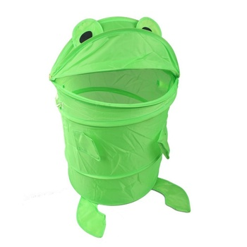 Foldable frog design laundry basket, light green collector laundry box|Laundry Bags|   -