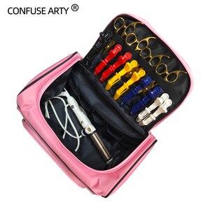 Image 2 - Hair Scissor Bag Salon Barber Handbag Hairdressing Comb Tools Bag Makeup Storage Bag Travel Hairstyling Carry Case