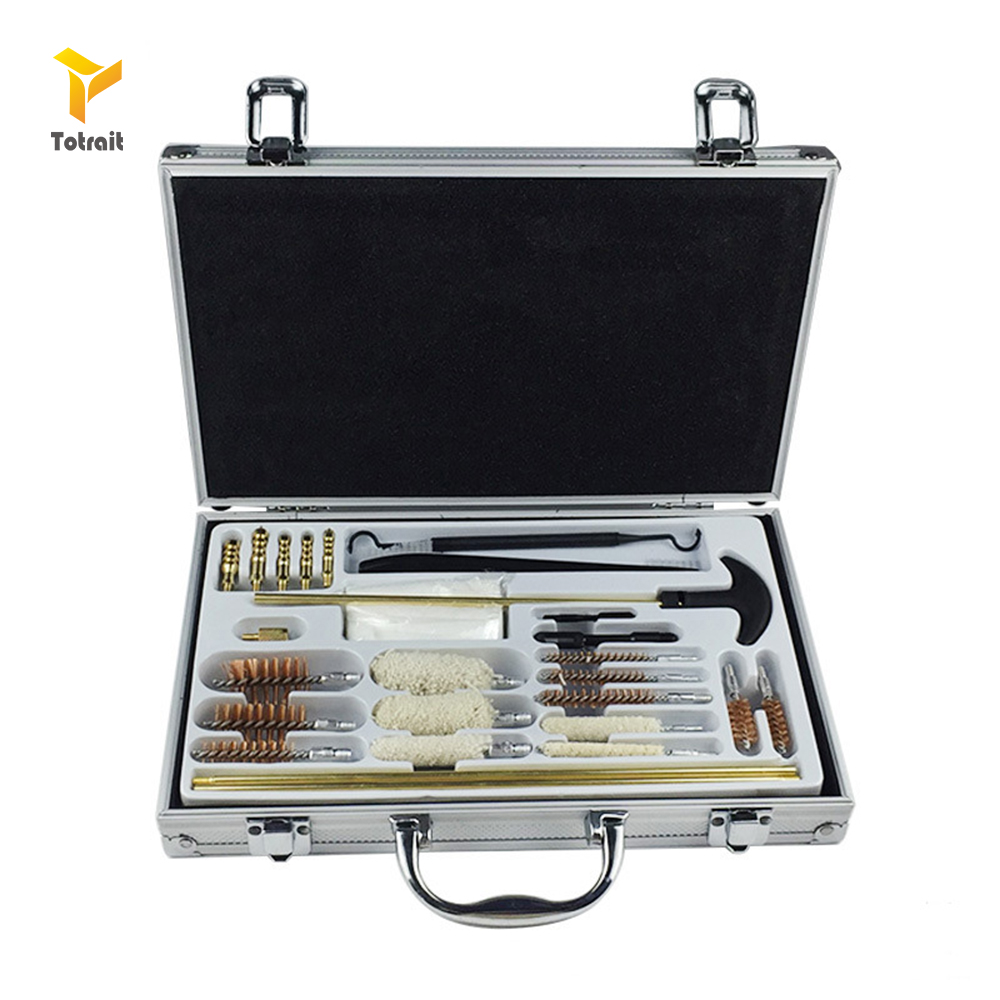 Hunting Universal Gun Pistol Cleaning Tool Kit Set Outdoor Brush Clean Tool Cleaner Pipe Mop Portable Rifle Brushes Weapon