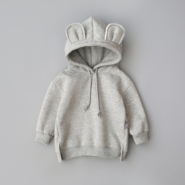 New Spring Autumn Baby Boys Girls Clothes Cotton Hooded Sweatshirt 3