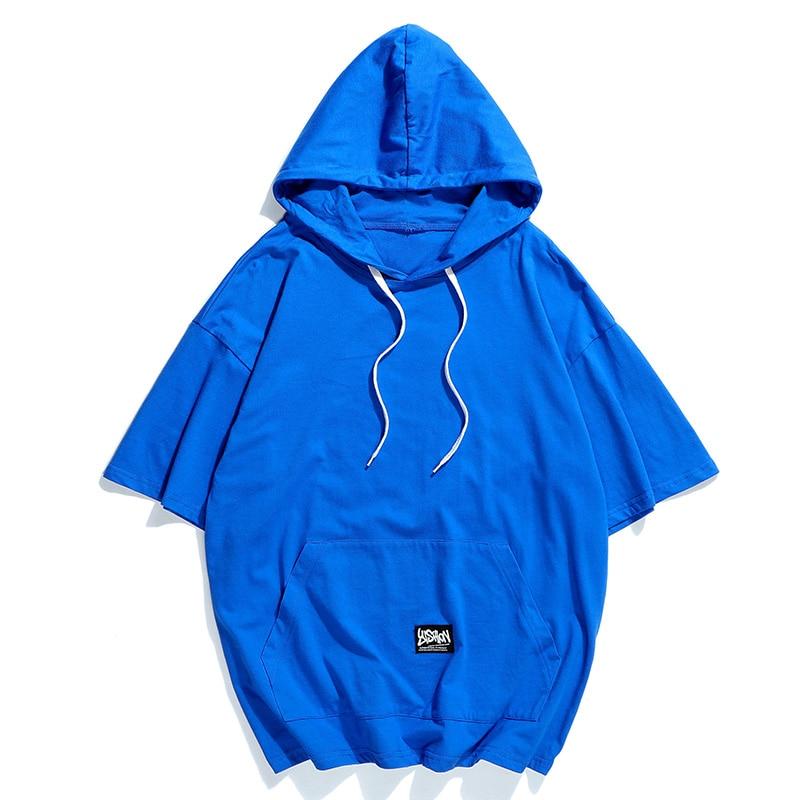 2019 Japanese Style Fashion Men Summer High-grade Pure Cotton Short Sleeve Hoodies/Male Leisure Hip Hop Sweatshirts Jackets Tops