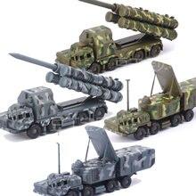 1:72 rússia exército S-300 sistemas de mísseis pmu radar veículo plástico montado caminhão puzzle kit de construção modelo de carro militar brinquedo