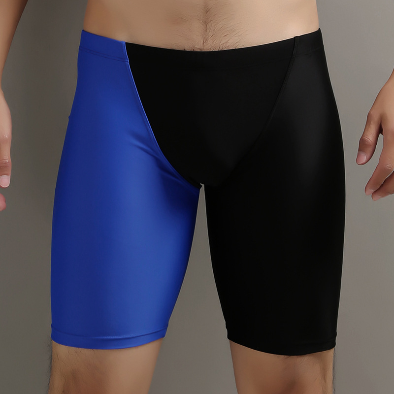 2020 MEN'S Swimming Trunks Short Long Legs Boxer Put Awkward Swimming Trunks Large Size Loose-Fit Hot Springs Bathing Suit
