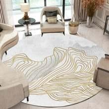 Новый стиль золотая линия чернила светильник серый гостиная