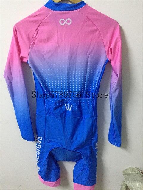 Triathlon skinsuit para bicicletas, traje de triatlo para ciclismo personalizado, manga longa, conjunto de roupas para estrada 6