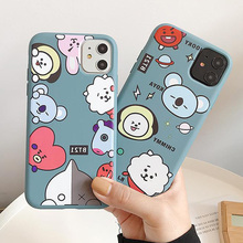 Cartoon BT21 for IPhone 11pro max x xr xs 7 8plus 6 Phone Case Silicone soft she