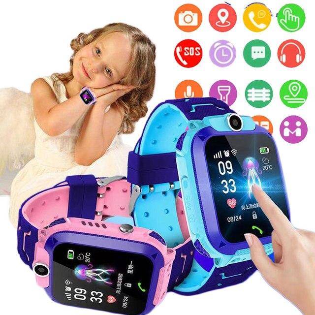 2020 Q12 Children's Smart Watch Kids SOS Phone Watches Smartwatch use Sim Card Photo Waterproof IP67 Kids Watch Gift boys girls