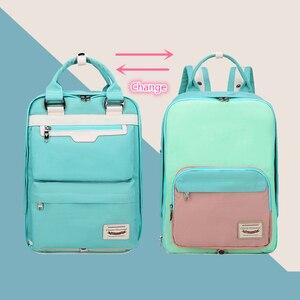 Macarons Mochila śliczny plecak pączek plecak wodoodporna torba podróżna plecak kobiety torby na laptop szkoła oxford torby Kawaii Bookbag