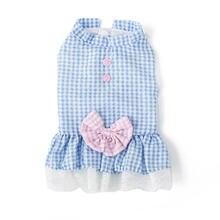 Весеннее клетчатое платье для собак одежда домашних питомцев