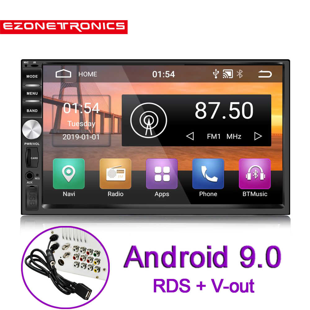 """Auto 7 """"Android 9.0 Quad Core 2G + 32G Universele Dubbele 2Din Geen Dvd Car Audio Stereo gps Navigatie Radio Kits Auto Multimedia"""