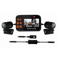 1080P Motorcycle Driving Recorder 130 Degree Double Waterproof Lens with G sensor Loop cycle Recording Motorbike Dash Cam QQ