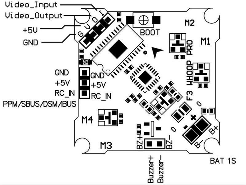 Beecore VTX Brushed Flight Controller for FPVWhoop Betaflight OSD and 25mw VTX