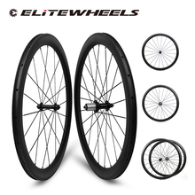 ELITEWHEELS Super Licht Powerway R13 Carbon Laufradsatz 30 35 47 50 55 60 88mm Tiefe Klammer Tubular Tubeless Rad für Racing