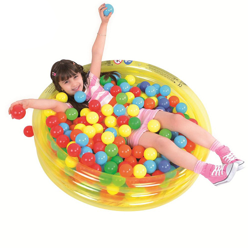 10pcs Random Color Baby Toys Ocean Balls For Play Dry Pool Soft Plastic Non-toxic Phthalate-free Crush-proof Pit Balls Swim Toy