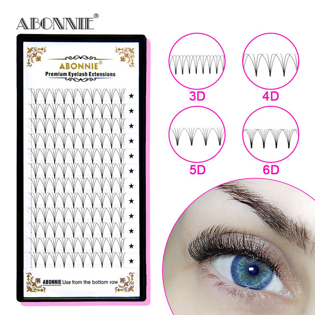 premade volume fans short stem 3d/4d/5d/6d russian  eyelash extension cilios for professionals soft mink eyelash