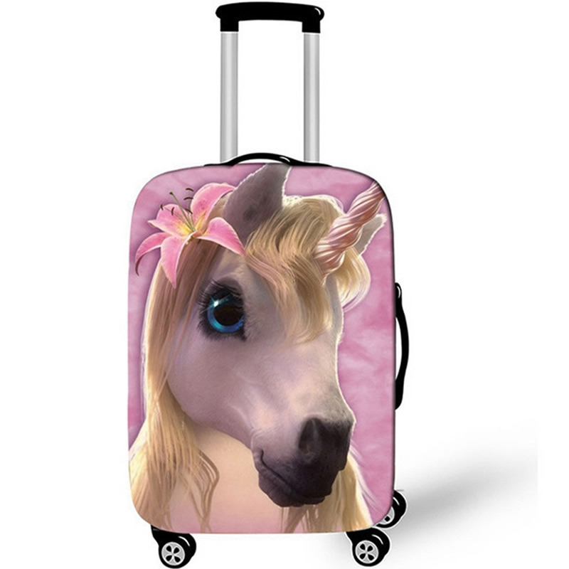 Thicken Unicorn Suitcase Case Elastic Protective Cover Travel Luggage Dust Cover Accessories Suitcases Organizer 18-32 Xl Inch