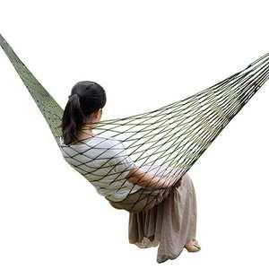 Nylon Hammock Rope-Net Sleeping-Bed Swing-Hang-Mesh Garden Portable Single Bold