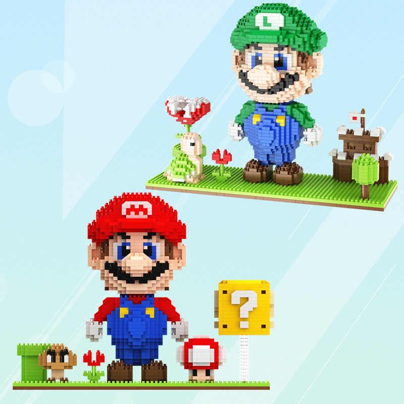 Scena Mario Di Puzzle Assemblati Per Bambini Giorno Regali del Giocattolo Blocchi Compatibili e Verde 2416 Del Grano Rosso Dimensione del Blocco di Numero di Modello avvertimento