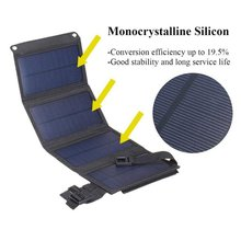 Phone-Charger for Traval Outdoor Camping Solar Charging-Board 5V Cellphone USB Folding