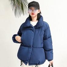 купить Winter Jacket Women 2019 New Zipper Parka Short Cotton-padded Coat Hooded Warm Women Solid Clothing Abrigos Mujer Invierno дешево