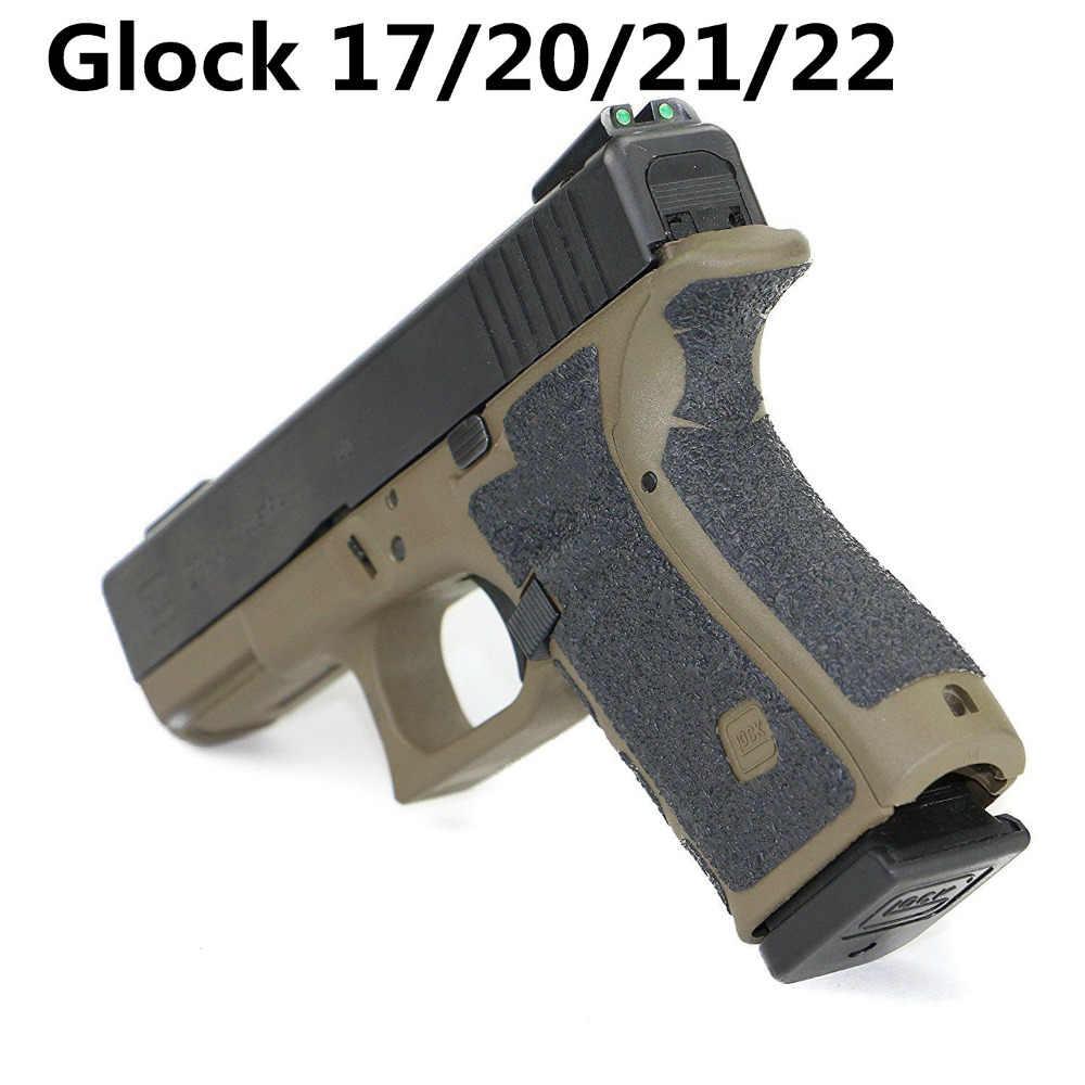 Nicht-slip Gummi Textur Grip Wrap Band Handschuh für Glock 17 19 20 21 22 25 26 27 33 43 holster 9mm pistole pistole magazin zubehör