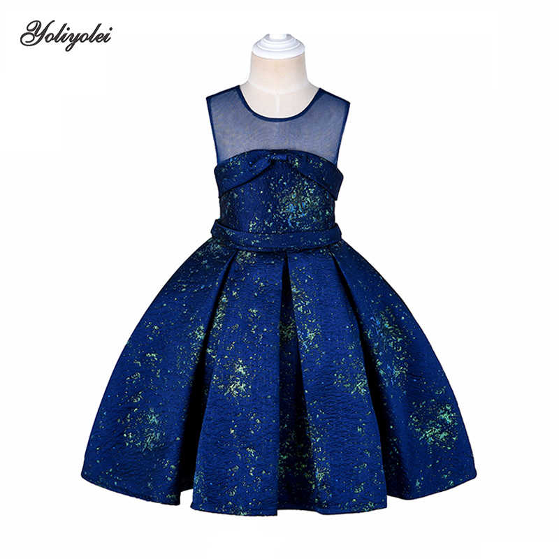 Yoliyolei Real Photos Teenage Clothing Christmas Girl Dress Summer Princess Wedding Party Red dress sequins For Girls Clothes