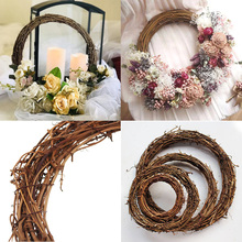 1pcs Wedding Decoration 10-30cm Wreaths Christmas Party Garland Material Rattan Wreath DIY