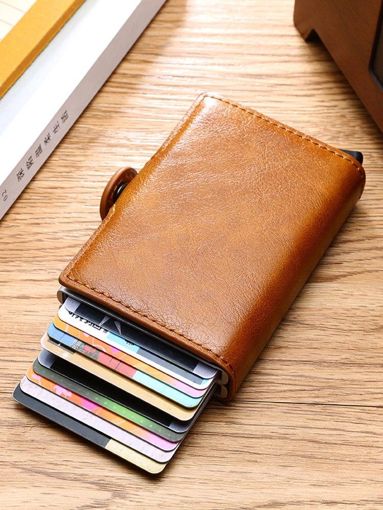 Wallet Card-Case Credit-Card-Holder Business-Bank Blocking-Protection Rfid Metal Aluminum