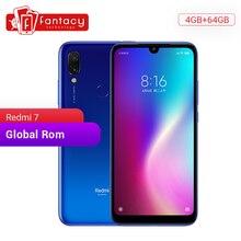 Globalny ROM Xiaomi Redmi 7 4GB RAM 64GB ROM Snapdragon 632 octa core 12MP podwójny aparat AI telefon komórkowy 4000mAh duża bateria