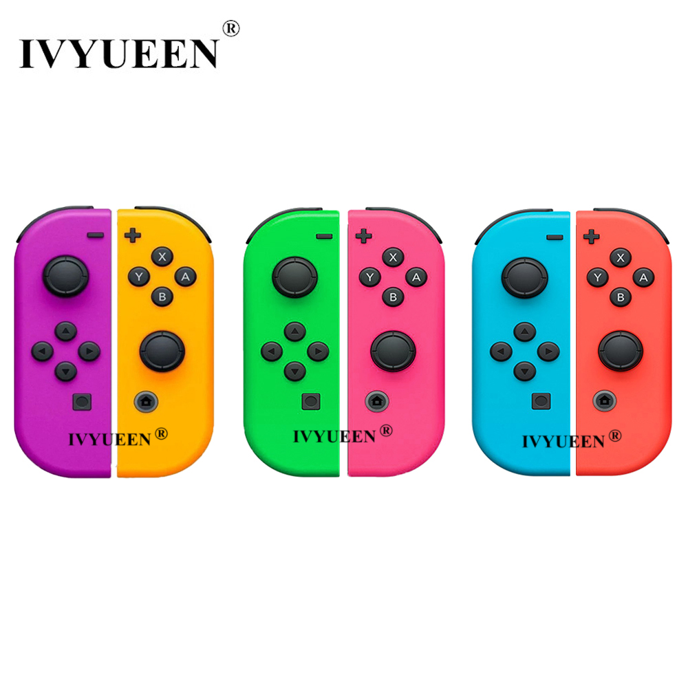 IVYUEEN 1 Pair For Nitendo Switch NS JoyCon Joy Con Controller Housing Shell Case For NintendoSwitch Green Purple Pink Cover
