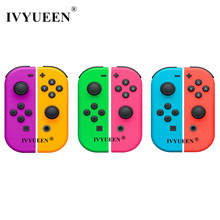 IVYUEEN 1 Pair for Nitendo switch NS JoyCon Joy Con Controller Housing Shell Case for NintendoSwitch Green Purple Pink Cover(China)