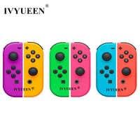 IVYUEEN 1 par para Nitendo Switch NS JoyCon Joy Con Controller carcasa para NintendoSwitch cubierta verde púrpura rosa