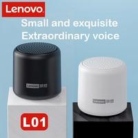 Lenovo-Altavoz Bluetooth TWS, reproductor de música portátil para exteriores, inalámbrico, Mini columna estéreo, sonido envolvente, resistente al agua